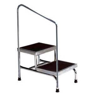 2 step ladder with handrail two step stool with rail colonialmedical