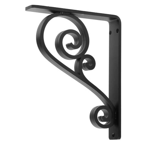 wrought iron hardware classic scroll wrought iron corbel 1 5 quot wide 6 bracket