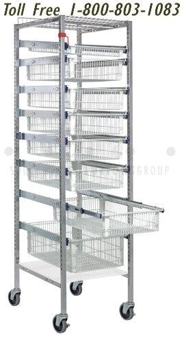 medical storage cabinets wire shelving plastic bins medical supply tray basket storage system drawer rack