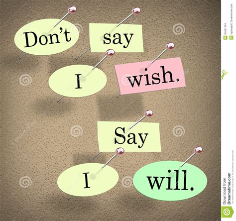 Don't Say I Wish, Say I Will Saying Quote Bulletin Board ...