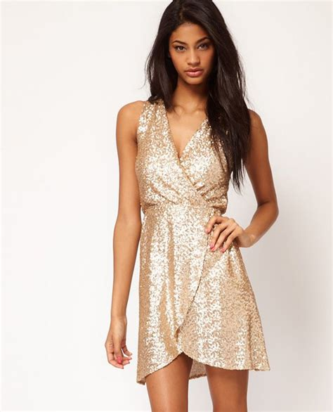 Gold Dresses Make Holidays Nicer by Stunning Gold Dress From Asos Fashion