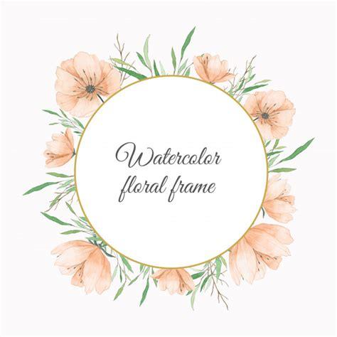 fiori color pesca cornice per fiori ad acquerelli color pesca scaricare