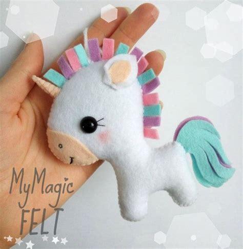 unicorn pattern felt cute unicorn felt ornament unicorn christmas by