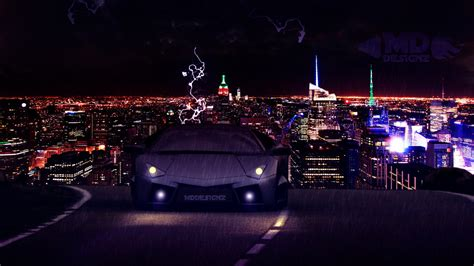 Lamborghini Reventon At Night by MDDESIGNZ on DeviantArt