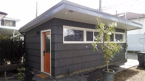 garage converted   sq ft tiny house   sale