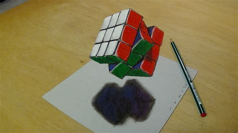 3d doodle drawing kit 3d drawing floating rubik s cube how to draw 3d rubik s