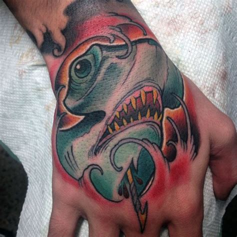 shark tattoos for men 70 hammerhead shark designs for sea ink