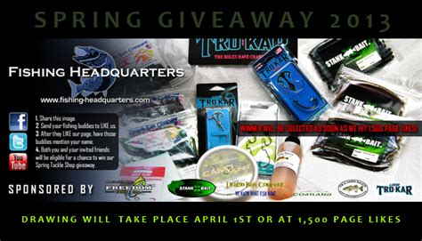 Free Fishing Tackle Giveaway - fishcast blog fishing headquarters spring gear giveaway 2013