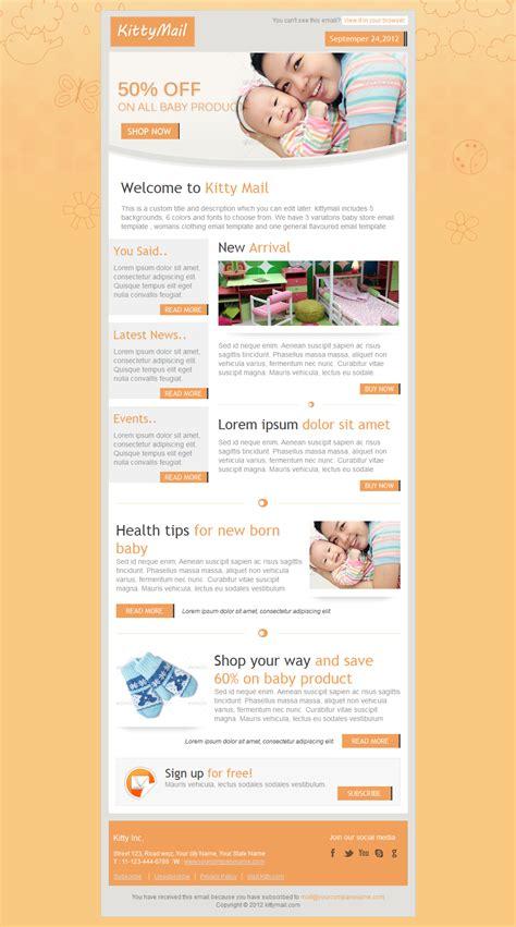 themeforest newsletter kittymail newsletter template by bluenila themeforest