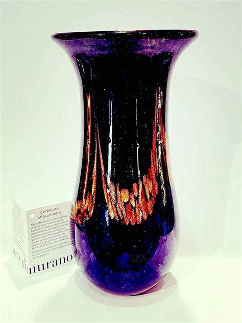 vaso lungo vaso lungo vetro avventurina venturini souvenirs vetro