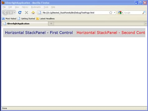 nested layout java use stackpanel to arrange child objects in a single line