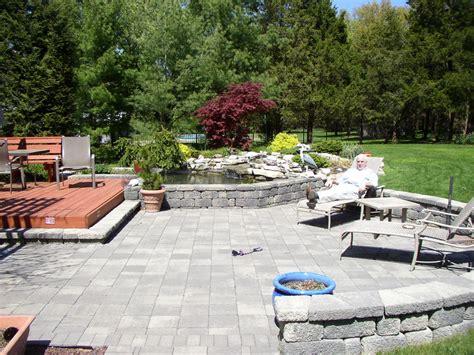 outdoor space outdoor living space pond patio bridgewater nj