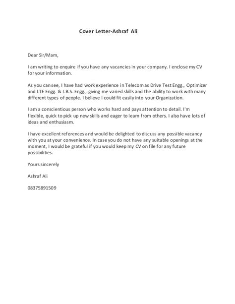 cover letter for enquiring possible vacancies gallery of letter enquiring about vacancy cover
