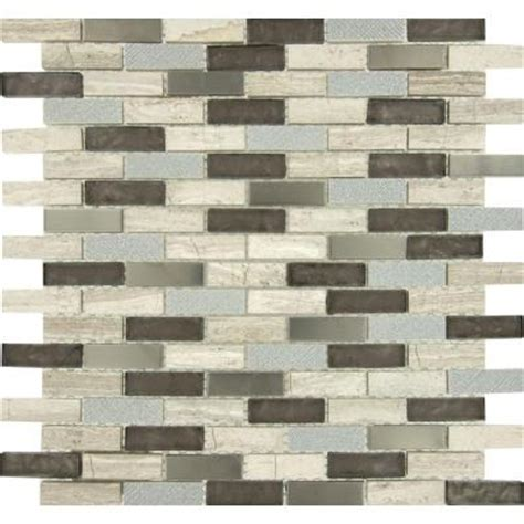Home Depot Brick Tile by Ms International Diamante Brick 12 In X 12 In X 8 Mm