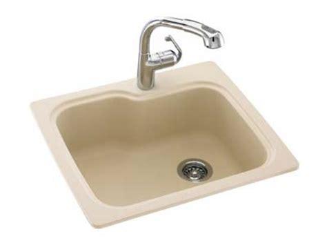 bisque kitchen faucets swanstone kssb 3322 018 large single bowl kitchen sink drop in swanstone sinks