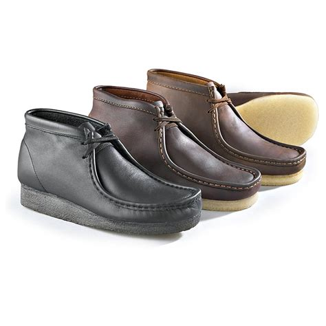 boys clarks wallabee boot s clarks 174 leather wallabee boots 126783 casual