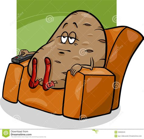 couch potato jokes couch potato saying cartoon stock photos image 36800043