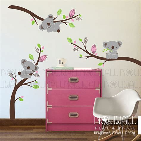 Nursery Wall Decals Australia Removable Australia Koala Wall Decal On Branches Animal