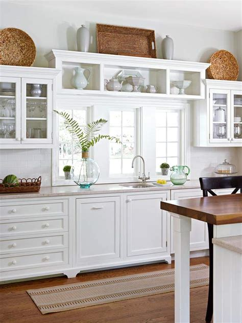 shelves above kitchen cabinets cottage farmhouse kitchens inspiring in white fox