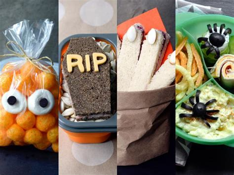 cute  creepy lunchbox ideas  halloween food