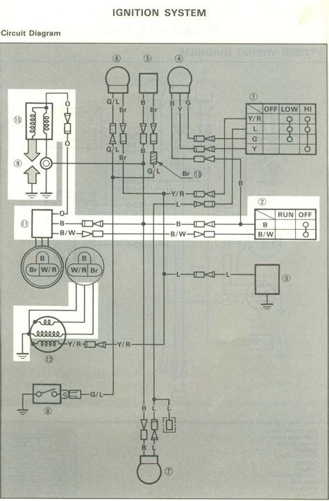 1983 yamaha xt200 wiring diagram 1983 yamaha xt200 wiring