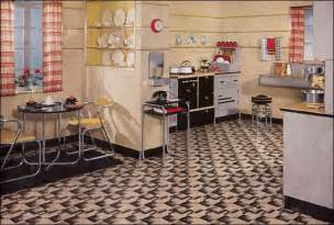Retro Flooring by Retro Kitchen Design Sets And Ideas