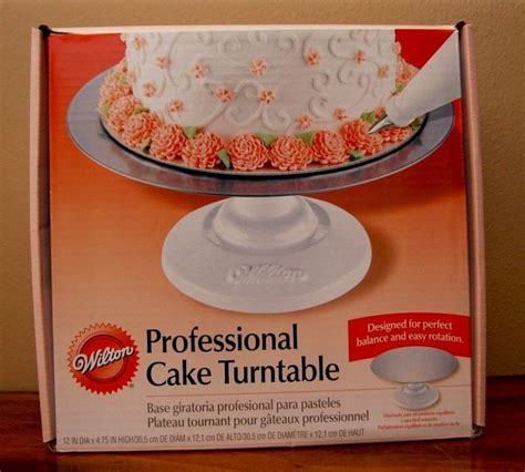 Professional Cake Decorating by Retired Wilton Professional Cake Turntable Nib Decorating