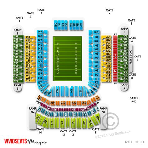 kyle field section map kyle field tickets kyle field information kyle field
