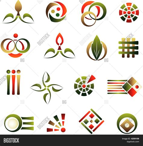 abstract design elements vector vector set of design abstract logo elements stock vector