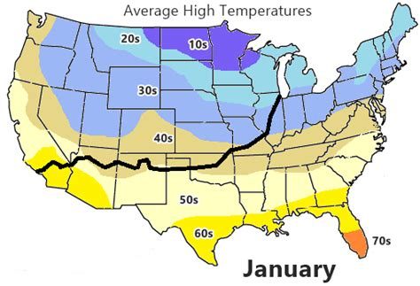 california temperature map january weather on route 66
