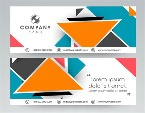 design name banner company banners modern design vector 02 vector banner
