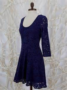 Blue lace dress with 3 4 sleeves navy blue lace dress 34 sleeve