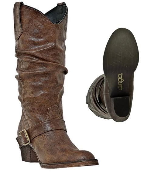 new dingo boots s pretender 12 quot brown slouch