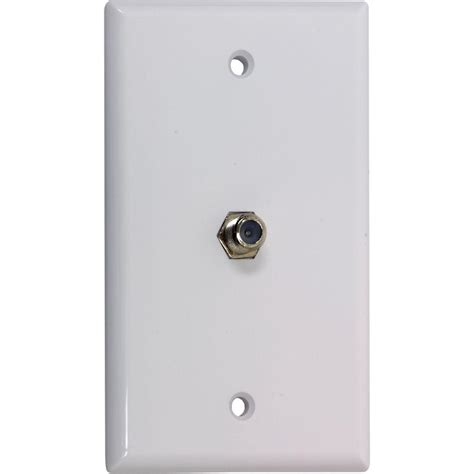 Diy Home Wall Decor by Ge 1 Gang Coaxial Cable Wall Plate 6 Pack White 73328