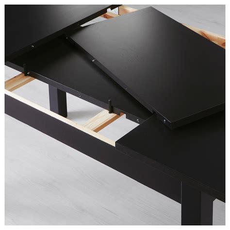 Bjursta Extendable Table Brown Black 140 180 220 X 84 Cm