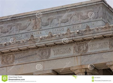 where is the lincoln memorial located in washington dc frieze of u s states on the lincoln memorial stock photo