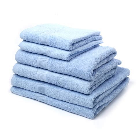 blue bathroom towel sets