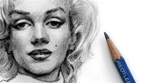 marilyn monroe zeichnung how to draw marilyn monroe with pencil youtube