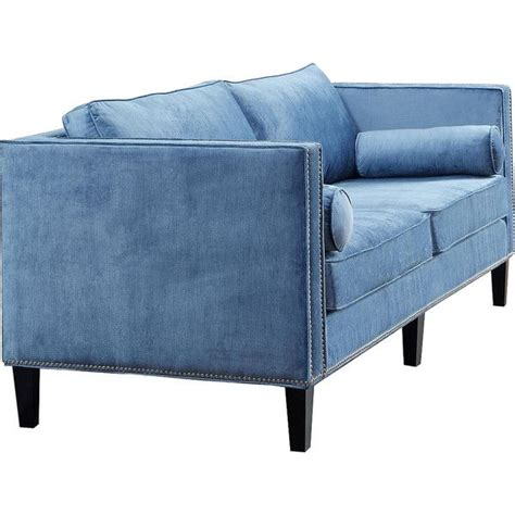 Light Blue Velvet Sofa by 17 Best Ideas About Light Blue Couches On