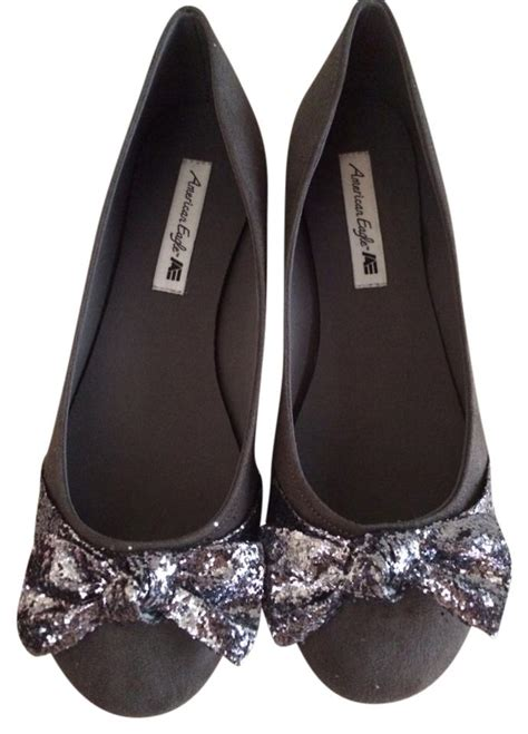 American Eagle Light Grey Original american eagle outfitters gray flats size us 8 5 tradesy