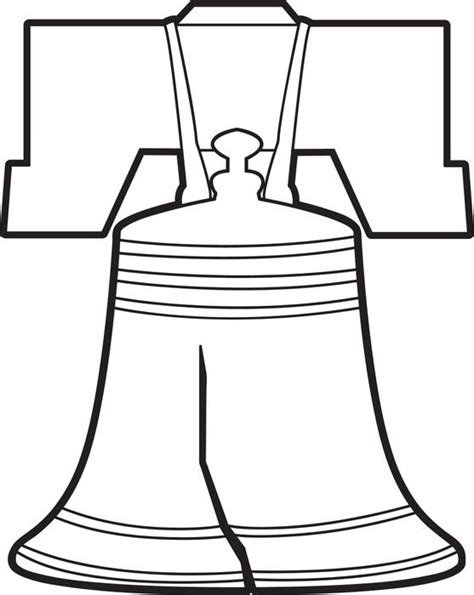 Liberty Bell Coloring Page Printable by Free Printable Liberty Bell Coloring Page For