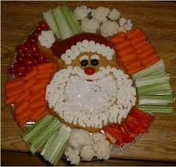 santa veggie tray vegetable platter christmas