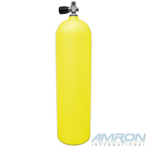 dive tanks aluminum dive tank yellow with k valve a080 yel