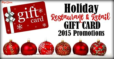 Gift Card Promotion - 2015 holiday restaurant retail gift card promotions hip2save