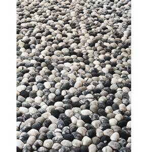 pebble rug 5 x 7 ft handmade wool felt pebble rug felted wool stone by gfurn