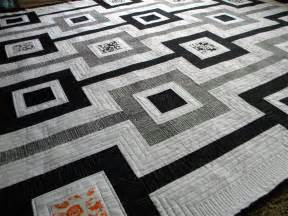 Black And White Quilt Sew Of Wonderful Black And White Quilt