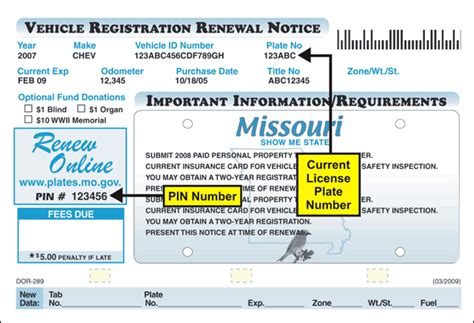 Vin Verification Letter Florida Renewing Missouri License Plates