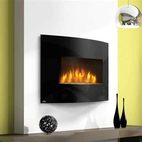 wall mounted fireplace napoleon curved 32 in wall mount electric fireplace efc32h