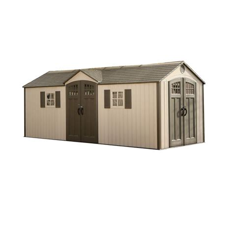 6 X 20 Shed Lifetime 20 Ft X 8 Ft Garden Building Plastic Shed 60127