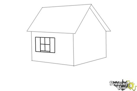 how to draw a house step by step buildings landmarks places how to draw a house step by step drawingnow